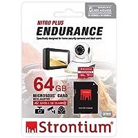 Strontium 64GB Nitro Plus Endurance A2 MicroSDXC Card with SD Adapter