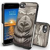 Coque iPhone 8 Orzly Grip-Pro Case Twin Layer - Coque Double Couche pour iPhone 8 / iPhone 7 – Une Double Couche pour Protection Maximale - Durable, Fine et Légère - Superbe Prise en main -Motif GORILLA