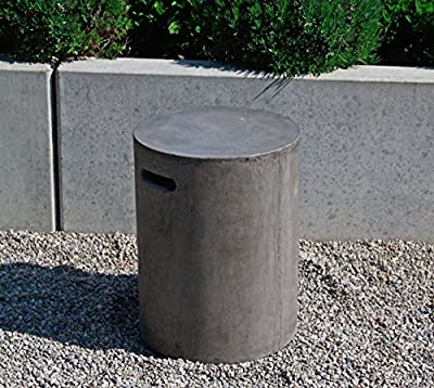 Beton Hocker 35 x 46 cm mit Griffmulden rund, Betonmöbel Gartenmöbel grau von VN-Spaces auf Gartenmöbel von Du und Dein Garten