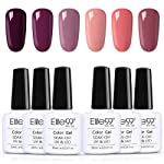 Elite99 Vernis Semi permanent Vernis à Ongles 6pcs lot vernis gel Nail Gel UV LED Soakoff Kit Manucure Pour Ongle, 10ml kit5