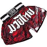 VENUM Tecmo Pantalones Cortos de Muay Thai, Hombre, Camuflaje Rojo, XL