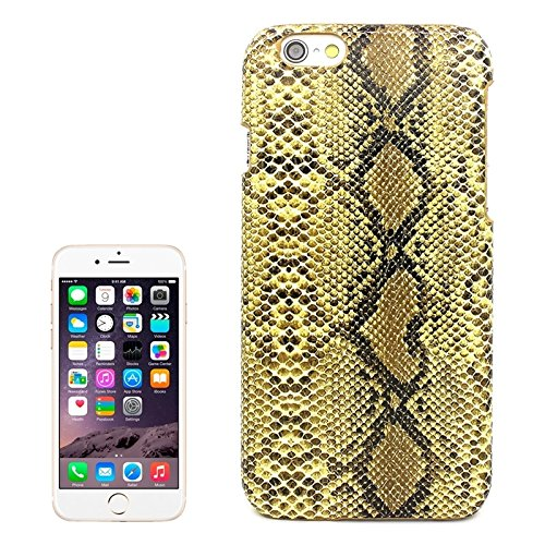 YAN Pour IPhone 6 / 6s, Snakeskin Pattern Paste Skin Hard Case ( Color : Black ) Yellow
