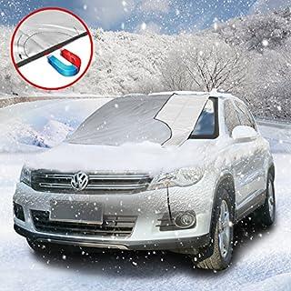 Frontscheibenabdeckung Magnetische Autoscheiben-Abdeckung für Sonnen-, EIS, Frost- und Staubschutz, Winterschutz für Windschutzscheibe, Autozubehör (Abdeckfläche 150cm x 125cm)