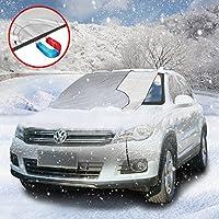 URBAN HABITAT Protezione parabrezza antighiaccio con, Auto Copertura Parasole Invernale Anti-Gelo per Magnetic Parabrezza neve, adatto per la maggior parte dei veicoli (Magnetico ; 215 x 125cm)