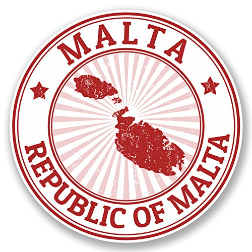 2-x-malta-vinyl-sticker-ipad-laptop-car-luggage-travel-tag-map-flag-gift-4713-10cm-x-10cm