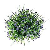 Amkun, Kunstblumen, 4Stk., Schleierkraut/Gypsophila, Strauß, Grün, Sträucher, Hochzeit, Tischdeko, Blumen-Arrangement, Bouquet-Füller violett