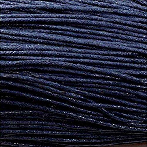 Apprets : 10 Mètres de fil coton ciré pour creation Bleu marine