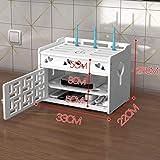 TRFBC Caja de Almacenamiento de Router InaláMbrico WiFi Router Shelf Los Estantes Flotante Set-Top Caja Estante Storage Large