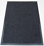 Machine Washable Grey Black Heavy Quality Non Slip Hard Wearing Barrier Mat. Available in 8 sizes (100cm x 170cm)