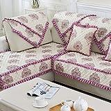 GDJVXCFV Europa Leichte Luxus-Sofa Handtuch/Vier Jahreszeiten Schlüpfen Sofakissen/Stoff Sitzkissen/Einfache Moderne Sofa Handtuch/Sofa Set Massivholz Abdeckung-C 90x180cm(35x71inch)
