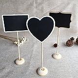 BJE Chalkboard 4 Mini Message Board, Chalk Board, Blackboard with Stand, Heart, Rectangle, Ractange message board