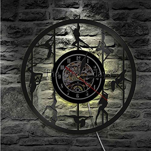 TIANZly Weibliche Pole Tänzer Led Wand Zeichen Wanduhr Handgemachte Uhr Schallplatte Uhr Raumdekoration
