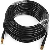 Cable Coaxial para Antena 10 Metros 3D-FB Cable Flexible RG58 con Conector SMA Macho a SMA Hembra para Amplificador Móvil Rep