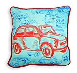 Skipper Printed Polyester Cushion Cover - Blue and Red best price on Amazon @ Rs. 305