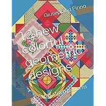12 new colorful geometric designs: Cross stitch patterns