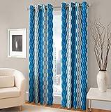 Beautiful Long Crush Print Curtain for Door 7 feet set of 2 Amazon Rs. 899.00