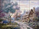Fresque murale en carrelage - The Woodlands - par Carl Valente - Cuisine crédence/Salle de bains douche