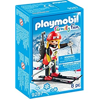 Playmobil-9287 Atleta Femenina, Negro, Rojo, Color Blanco, Amarillo, única (9287)