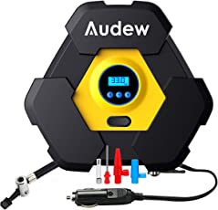 Audew Auto Air Compressor Pump 12V DC 150PSI Portable Electric Vehicle Inflatable Pump Digital Tire Inflator for Car, Truck, Bicycle, RV, Air Bed Mattress and Other Inflatables