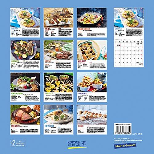 61kBGsMNJ1L - Genussvoll Grillen (BK) 228119 2019: Broschürenkalender mit Ferienterminen. Jeden Monat ein neues Rezept für dwn Grill. Format: 30 x 30 cm