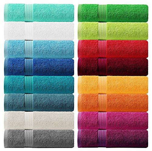 Lashuma Handtuch Set - Frotteeserie Linz - in 16 Farben und 6 Größen, Farbe: rein weiß, 6er Set Seiftuch 30x30 cm