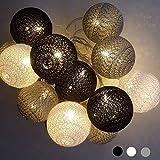 Lichterketten LED Lichterketten Batterie Innen - 3.5M 20 Pcs Cotton Ball Lichterketten White Xmas Lichterketten Starry Wall Light Hochzeit Home Weihnachtsdekoration