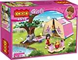 #7: Saffire Girls Picnic Play Campers Building Blocks, Multi Color (179 Pieces)