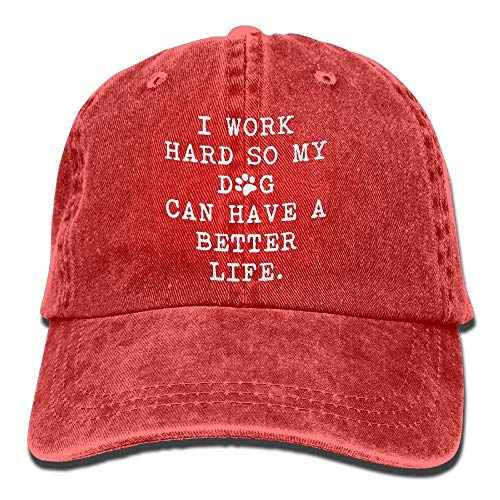 I Work Hard So My Dog Can Have A Better Life 1 Vintage Jeans Baseball Cap for Men and Women -
