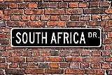 Aersing Stree Deko Schilder Südafrika Geschenk Schild Südafrika Souvenir Südafrika Native Metall Wandschild Funny