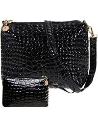 2PCS Bag Set Women Messenger Bags Crocodile PU Leather Shoulder Bags Women Clutch Composite Bags Set Women Leather...