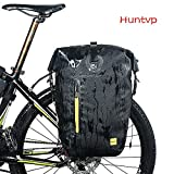 Huntvp® Fahrradtasche 14/25/26L Wasserdicht Gepäckträgertasche, Fahrrad Hintsitz Trunkbag Satteltasche, Hochwertig Reparaturset mit Schultergurt und Reflektierendes Schild