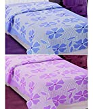 Elegance Pink & Purple 100% Cotton Two S...