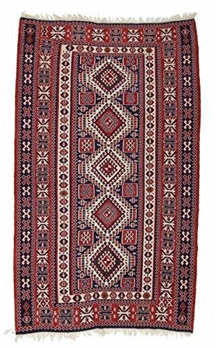 Nain Trading Kelim Soumak 292x175 Orientteppich Teppich Dunkelbraun/Rost Handgeknüpft Russland -