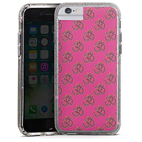 Apple iPhone 8 Bumper Hülle Bumper Case Glitzer Hülle Indisch Indien Muster Bumper Case Glitzer rose gold