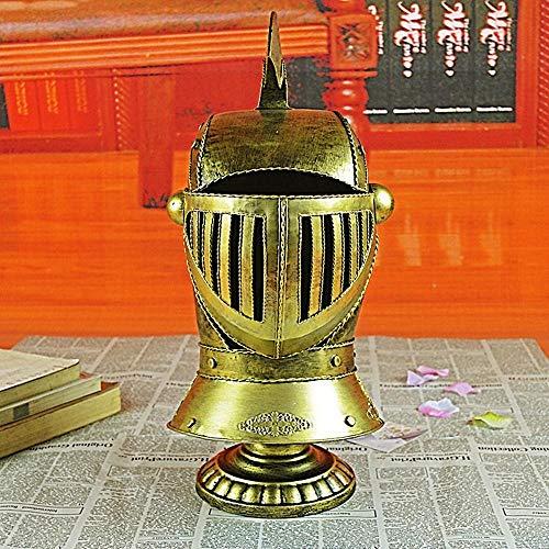 WDXGZY Dekoration,Helm Ornamente Retro-Eisen Roman Samurai Helm Fotografie Requisiten (Awesome Requisiten Halloween)