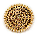 #6: Adarsha Dress Palace Bharatnatyam Kuchipudi Dance Temple Ornament Set Rakudi
