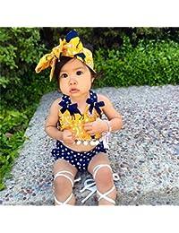 Vestidos Bebé,Switchali Infantil recién nacido Bebé Niña Floral Borla vestir ninos moda bowknot Conjunto de ropa barato gran venta camisa+Pantalones corta +banda para el cabello