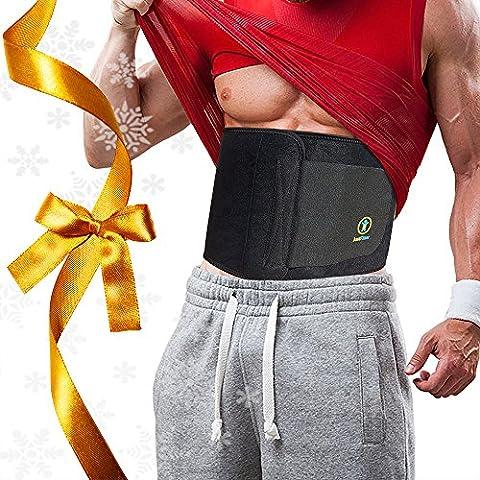 Faja reductora premium de entrenamiento para hombres y mujeres. Mejor ajustable que otras fajas reductoras. Proporciona un mejor apoyo para la parte inferior de la espalda y la zona