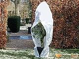 Housse d'hivernage zippée en polypropylène blanc 70gr/m² Ø150x200cm