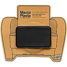 Reparador Cuero, Polipiel y Skai - Parches en Varios Colores - MastaPlasta - Rectangulo Mediano (100x60mm) (Negro)