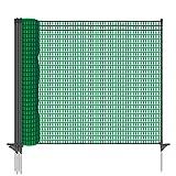 Gartennetz Universal Begrenzungszaun VOSS.farming farmNET 20 m Premium, 80 cm, 12 Pfähle, dunkelgrün, Hundezaun, Welpenzaun, Beetschutz