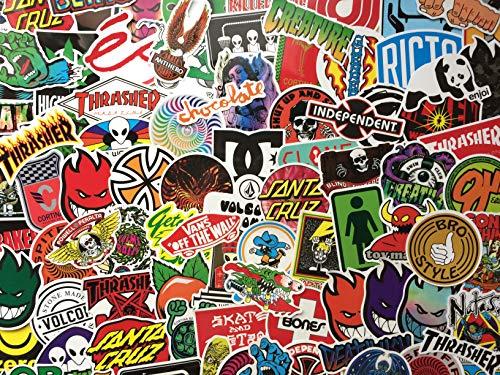 Lot de Stickers Skate, Autocollants Skateboard, Logo, Marque, Sponsor, Sticker Snowboard, Sport...