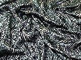 Satin Tiger Animal Print Kleid Stoff