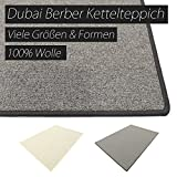 Dubai grau HEVO® Berber Kettelteppiche Teppiche | Kinderteppiche | Spielteppiche 200x400 cm