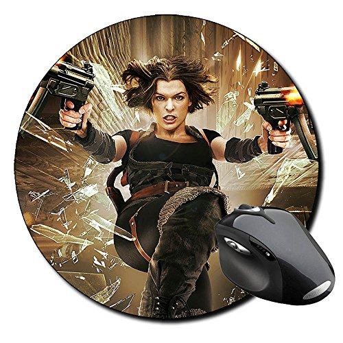 Resident Evil Afterlife Milla Jovovich Tapis De Souris Ronde Round Mousepad PC