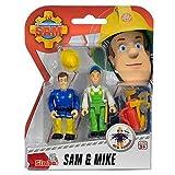 Sam El Bombero - Fireman Sam - Conjunto de Figuras - Sam & MikeLos bomberos en Pontypandy siempre estar preparados en caso de emergencia.El grupo se compone de 2 cifras y varios accesorios, como un casco, extintor de fuego y herramientas.Material...
