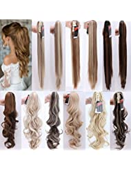 Amazon ponytail hair extensions hair extensions wigs ombre 2tones jaw claw ponytail hair extensions 1824 pmusecretfo Image collections