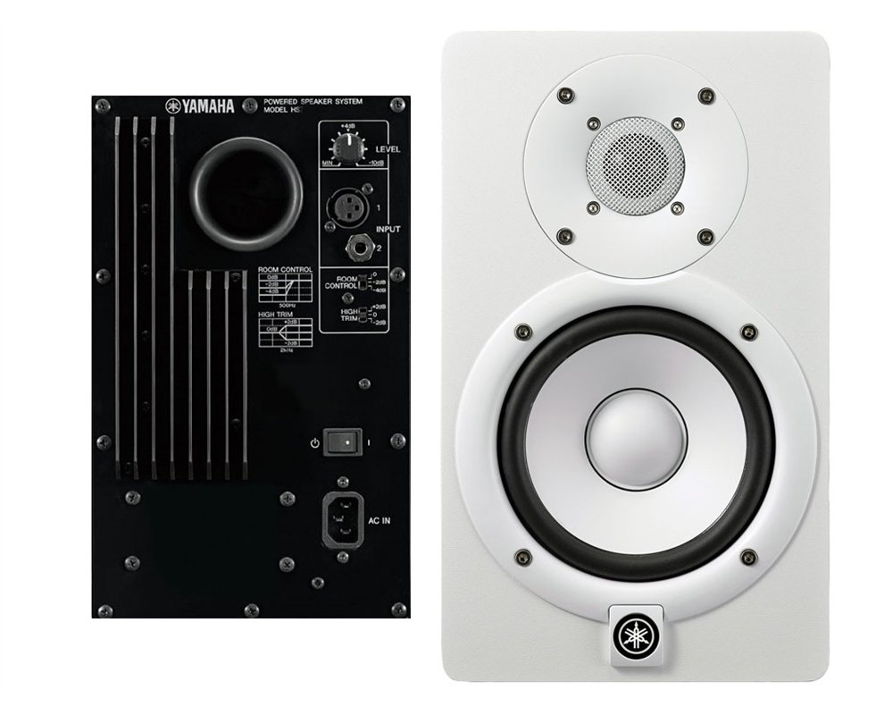Yamaha HS7Wh Studio Monitor bi-Amplificato con Cone Woofer 6,5″ e Dome Tweeter 1″, Bianco