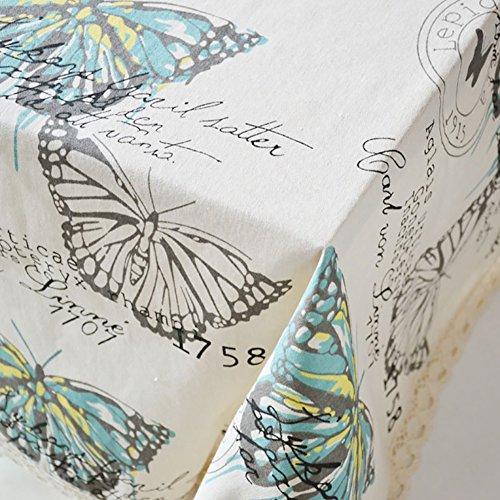 good01 rectangle exquis Papillon Motif Nappe Home Housse de table Décor, beige, 60 cm x 60 cm