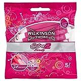 Wilkinson Extra 2 Beauty Rasoio Usa e Getta con 2 lame ed extra grip, 2 confezione da 5 pezzi